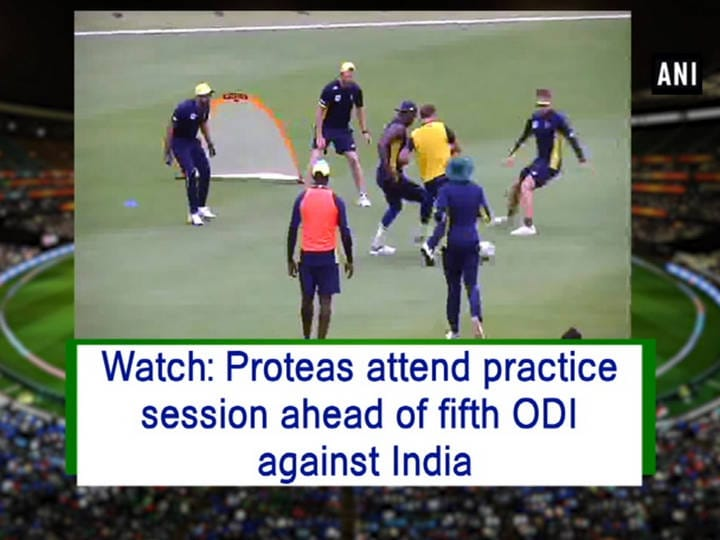 Watch: Proteas attend practice session ahead of fifth ODI against India