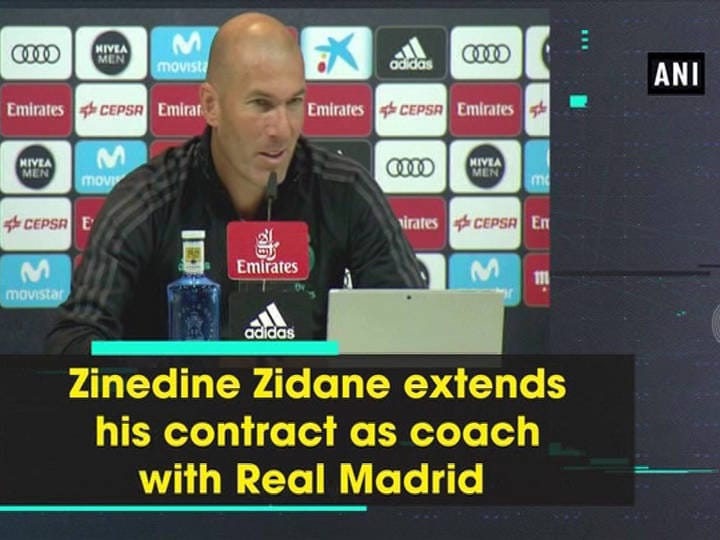 Zinedine Zidane extends his contract as coach with Real Madrid