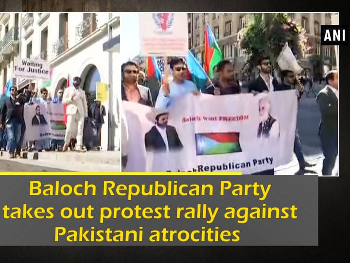 Baloch Republican Party takes out protest rally against Pakistani atrocities