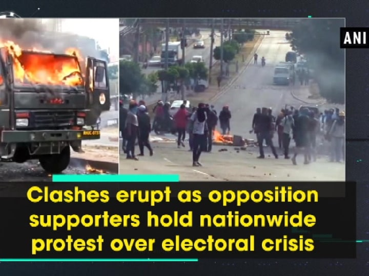 Clashes erupt as opposition supporters hold nationwide protest over electoral crisis