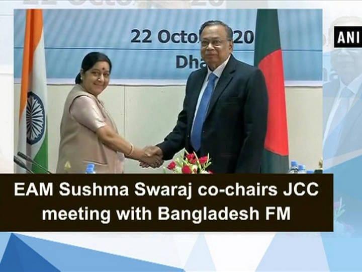EAM Sushma Swaraj co-chairs JCC meeting with Bangladesh FM