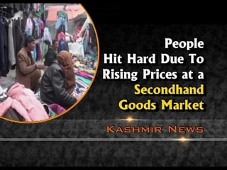 People hit hard due to rising prices at a secondhand goods market