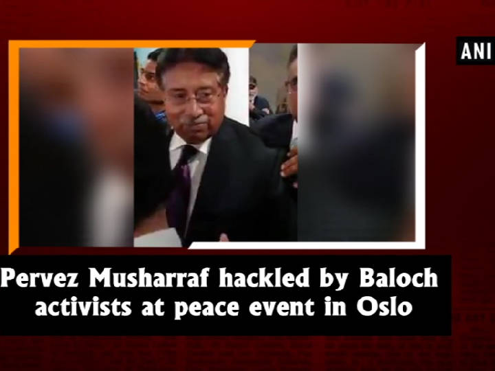 Pervez Musharraf hackled by Baloch activists at peace event in Oslo