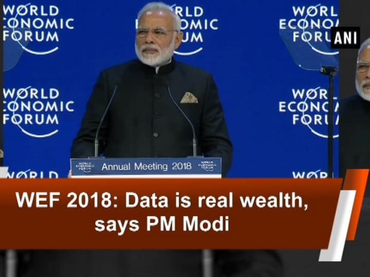 WEF 2018: Data is real wealth, says PM Modi