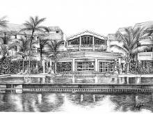 Sketches of resorts by  Mahindra Holidays