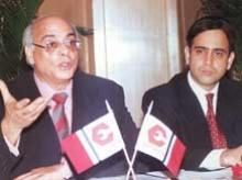 Rajan Nanda with his son Nikhil Nanda