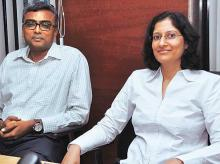 R Janakiraman (left) and Roshi Jain of Franklin Templeton Investments, India