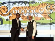Narendra Modi, Sundar Pichai, Google, US
