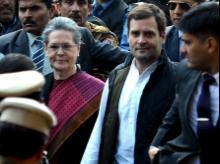 Sonia Gandhi and Rahul Gandhi arrive at Patiala House court for National Herald case hearing