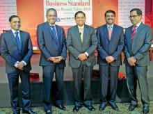 (From left): Ramaswamy Venkatachalam, Rajiv Anand, Kartik Kaushik, Rishi Gupta and Mrutyunjay Mahapatra