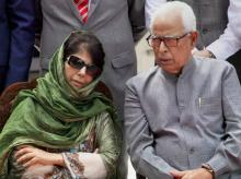 Mehbooba Mufti, NN Vohara, J&K, Jammu and Kashmir