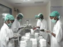 Eucare Pharma's packing section