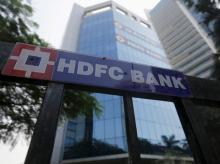 The headquarters of India's HDFC bank is pictured in Mumbai, India