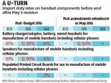 Duty abolition on mobile components to impact local manufacturing