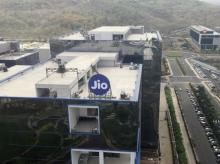 A general view of Reliance Jio headquarters is seen on the outskirts of Mumbai