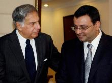 File photo of Ratan Tata (Left) with Cyrus Mistry