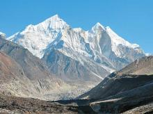 The three sister peaks of the Bhagirathi mountains