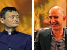 Jack Ma and Jeff Bezos  Photo: Tech in Asia