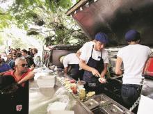 food truck serving