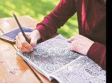 If colouring books can help ease stress, such books may just be the perfect thing to slip into your carry-on before you squeeze into coach Photo: istock