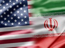 US, Iran, Flag