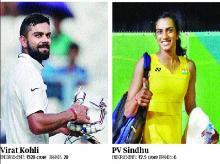 brands, Virat Kohli, P V Sindhu, Kohli, Sindhu