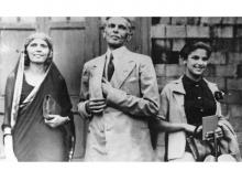 TWO LIVES: Jinnah with his sister, Fatima (left), and his daughter, Dina (right)