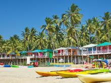 Palolem beach in Southern Goa