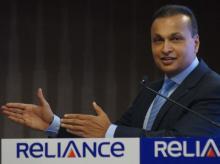 Anil Ambani, Chairman of India's Reliance Communications, addresses a news conference in Mumbai (Photo: Kamlesh Pednekar)