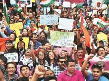 GJM supporters, Gorkhaland protest