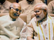 Presidential candidate Ram Nath Kovind and Prime Minister Narendra Modi