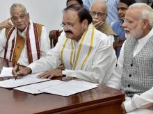 M Venkaiah Naidu, Narendra Modi, Murli Manohar Joshi, VP Polls