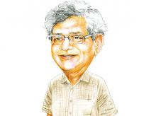 Sitaram Yechury, in the thick of things