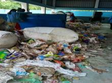 The plastic recycling centre in Indore compresses and sells the waste to a road manufacturer
