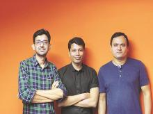 Kishore Mundra, Subodh Kumar and Sanjeev Kumar,   co-founders of Liv Artificial Intelligence