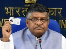 Union Minister of Electronics & Information Technology and Law & Justice, Ravi Shankar Prasad  during a press conference on Supreme Court's ruling holding privacy as a Fundamental Right, at Shastri Bhavan in New Delhi on Thursday. Photo: PTI
