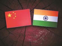 India, China, flag