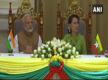 PM Modi and State Counsellor of Myanmar Aung San Suu Kyi witness exchange of agreements between India and Myanmar