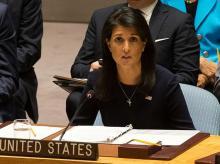 Nikki Haley, US ambassador to the UN. Photo: Reuters