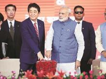 File photo: Prime Minister Narendra Modi and his Japanese counterpart Shinzo Abe