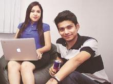 Moksha Srivastava (left) and Pranay Shrivastava,  co-founders of Wheelstreet