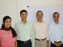 Sapience Co-founders: Swati Deodhar, Shirish Deodhar, Madhukar Bhatia, and Hemant Joshi