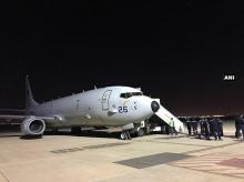 A Indian Navy plane took off for Philippines's Manila last night to conduct search & rescue operation for missing sailors of MV Emerald Star. Photo:ANI