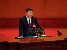 Chinese President Xi Jinping speaks during the opening of the 19th National Congress of the Communist Party of China at the Great Hall of the People in Beijing, China. Photo: Reuters.