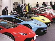 File photo of luxury cars