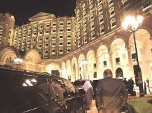 The Ritz Carlton has been taken over the by the government and turned into a luxury prison.