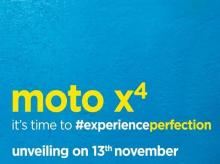 Moto X4 launch set for November 13