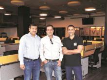 Active.ai co-founders Parikshit Paspulati, Ravi Shankar  and Shankar Narayanan