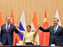 China, Russia, Sergey Lavrov, Wang Yi, Sushma Swaraj