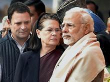 Rahul, Sonia Gandhi, Narendra Modi, Gujpoll